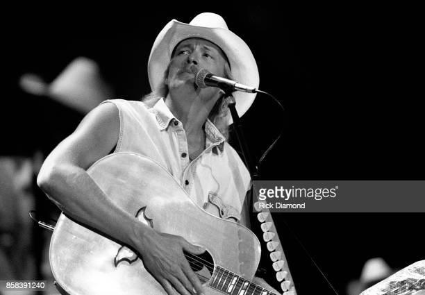 Singer/Songwriter Alan Jackson performs at The OMNI Coliseum in Atlanta Georgia February 19 1991