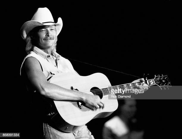 Singer/Songwriter Alan Jackson performs at The OMNI Coliseum in Atlanta Georgia February 19 1991