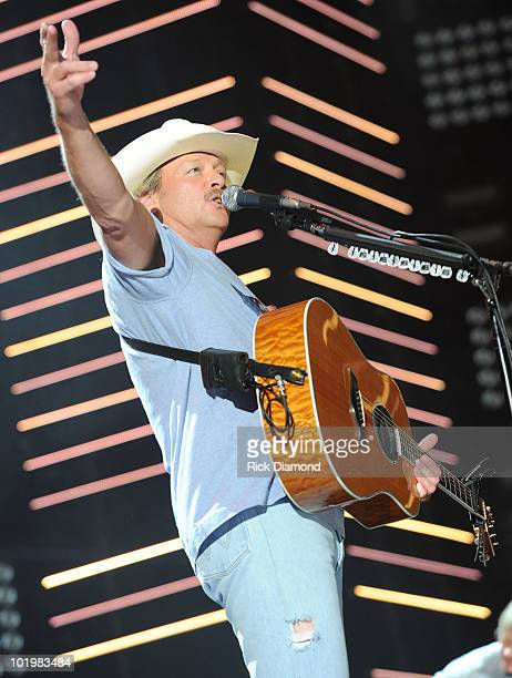Singer/Songwriter Alan Jackson performs during CMA Music Festival Day 1 at LP Field on June 10, 2010 in Nashville, Tennessee.