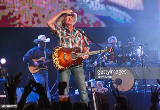 Singersongwriter Alan Jackson performs during the 'HONKY TONK HIGHWAY' tour at Ascend Amphitheater on May 19 2017 in Nashville Tennessee