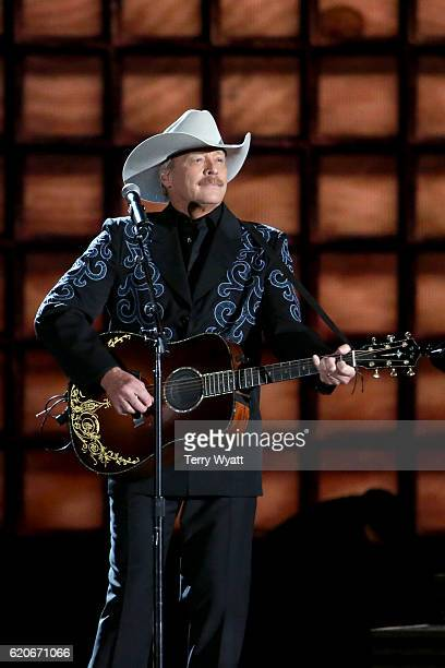 Singersongwriter Alan Jackson performs onstage at the 50th annual CMA Awards at the Bridgestone Arena on November 2 2016 in Nashville Tennessee
