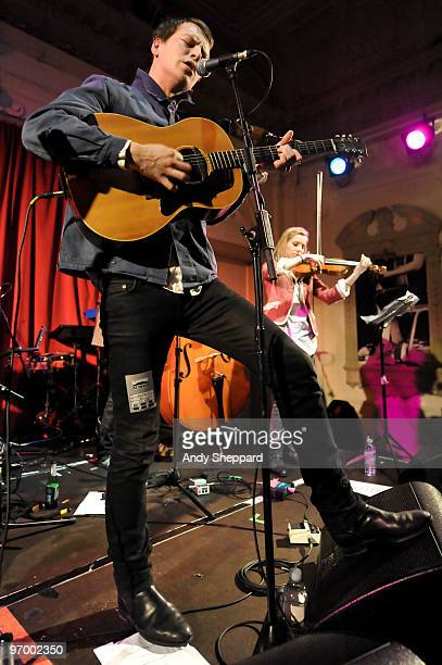 UK singersongwriter Alan Pownall performs on stage at Bush Hall on February 23 2010 in London England