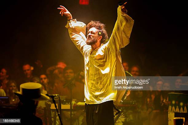 Singer/songwriter Alex Ebert of Edward Sharpe And The Magnetic Zeros performs onstage during the 'Edward Sharpe And The Magnetic Zeros' Big Top...