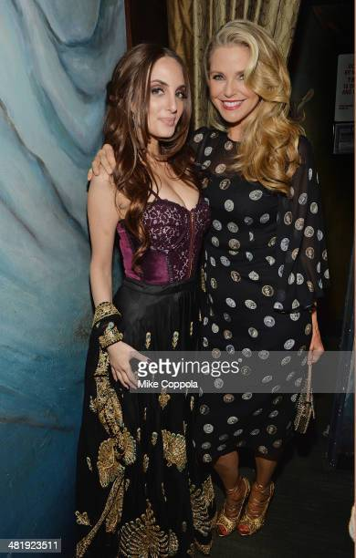 Singer/songwriter Alexa Ray Joel poses for a picture with her mother/model Christie Brinkley after she performed at Cafe Carlyle rlyle on April 1...