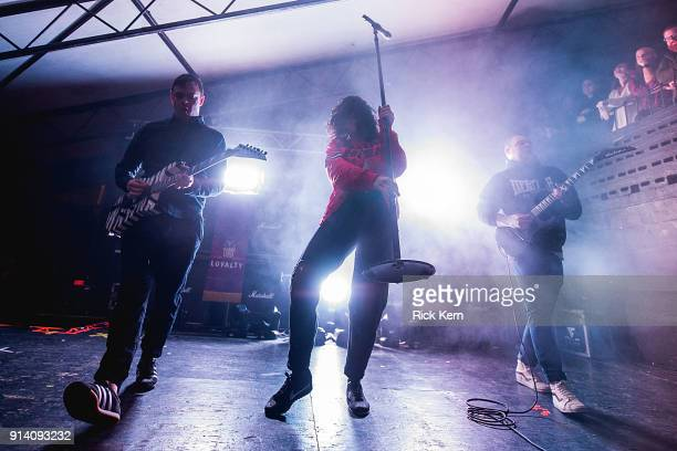 Singersongwriter Alexis Krauss and musician Derek E Miller of Sleigh Bells perform in concert at Mohawk on February 3 2018 in Austin Texas