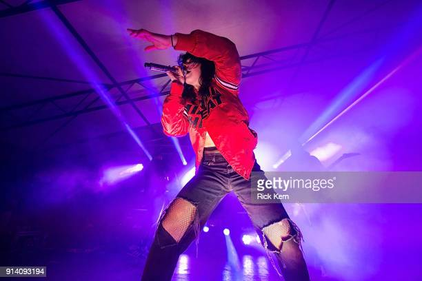 Singersongwriter Alexis Krauss of Sleigh Bells performs in concert at Mohawk on February 3 2018 in Austin Texas