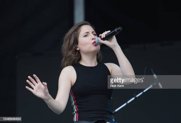 Singersongwriter Alice Merton performs onstage during weekend one day two of Austin City Limits Music Festival at Zilker Park on October 6 2018 in...