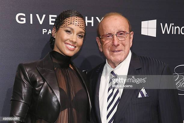 Singer/songwriter Alicia Keys and record producer Clive Davis attend 2015 'Keep A Child Alive' Black Ball at Hammerstein Ballroom on November 5 2015...