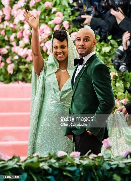Singer-songwriter Alicia Keys and record producer Swizz Beatz are seen arriving to the 2019 Met Gala Celebrating Camp: Notes on Fashion at The...