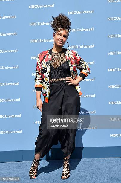 Singer/songwriter Alicia Keys attends the NBCUniversal 2016 Upfront Presentation on May 16 2016 in New York New York