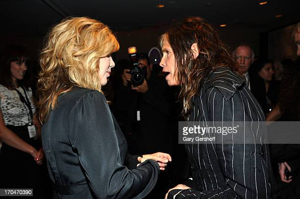 Singer/Songwriter Alison Krauss and Honoree Steven Tyler attend the Songwriters Hall of Fame 44th Annual Induction and Awards Dinner at the New York...