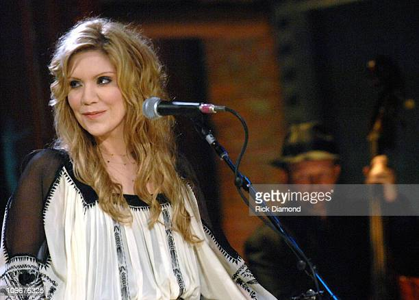 Singer/Songwriter Alison Krauss at the taping of CMT Crossroads Featuring Robert Plant and Alison Krauss To air January 2008 on CMT CMT Crossroads...