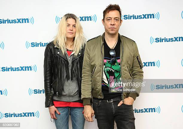 Singersongwriter Alison Mosshart and guitarist Jamie Hince of The Kills visit SiriusXM Studio on April 12 2016 in New York City