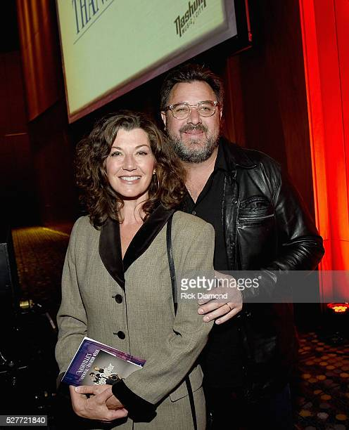 Singer/Songwriter Amy Grant attends as husband Singer/Songwriter Vince Gill Receives The EW 'Bud' Wendell Award as part of Nashville's National...