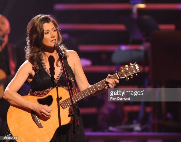 Singer/Songwriter Amy Grant performs at The 41st Annual GMA Dove Awards at The Grand Ole Opry House on April 21 2010 in Nashville Tennessee