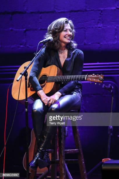 Singersongwriter Amy Grant performs during 'Best Buddies Unplugged' at Franklin Theatre on November 2 2017 in Franklin Tennessee