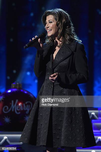 Singersongwriter Amy Grant performs on stage during the CMA 2016 Country Christmas on November 8 2016 in Nashville Tennessee