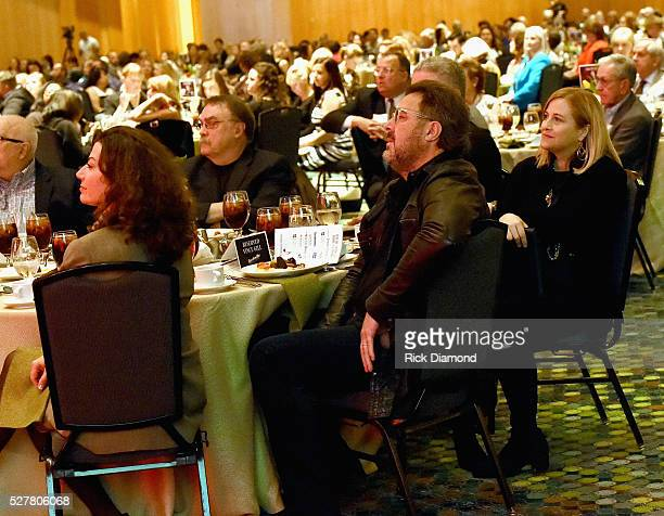 Singer/Songwriter Amy Grant Vince Gill and Nashville Mayor Megan Barry attend as Singer/Songwriter Vince Gill Receives The EW 'Bud' Wendell Award as...