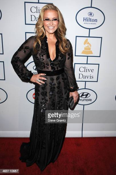 Singersongwriter Anastacia attends the 56th annual GRAMMY Awards PreGRAMMY Gala and Salute to Industry Icons honoring Lucian Grainge at The Beverly...
