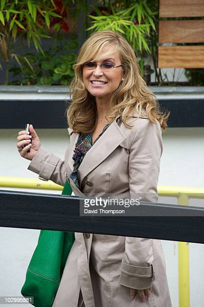 Singer/Songwriter Anastacia is seen arriving at GMTV studios on July 20 2010 in London England