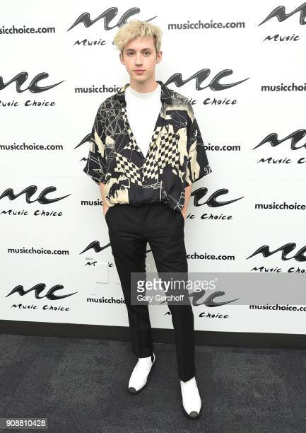 Singer/songwriter and actor Troye Sivan visits Music Choice on January 22 2018 in New York City