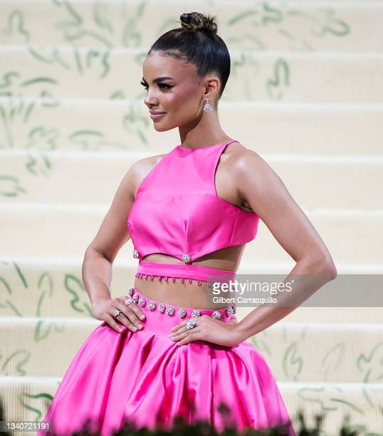 Singer/songwriter and actress Leslie Grace attends The 2021 Met Gala Celebrating In America: A Lexicon Of Fashion at The Metropolitan Museum of Art...