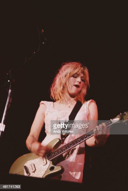 Singersongwriter and guitarist Courtney Love performing with American rock group Hole at the UIC Pavilion Chicago 1st December 1994
