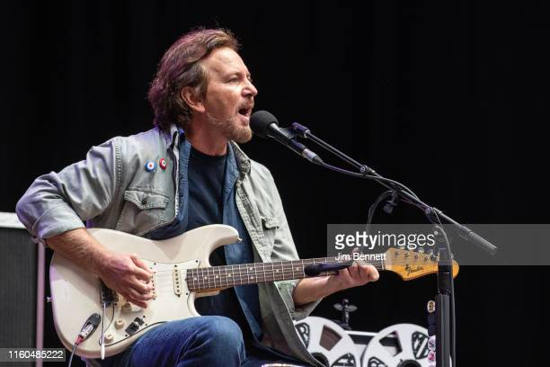 Singersongwriter and guitarist Eddie Vedder performs live on stage at Wembley Stadium on July 06 2019 in London United Kingdom