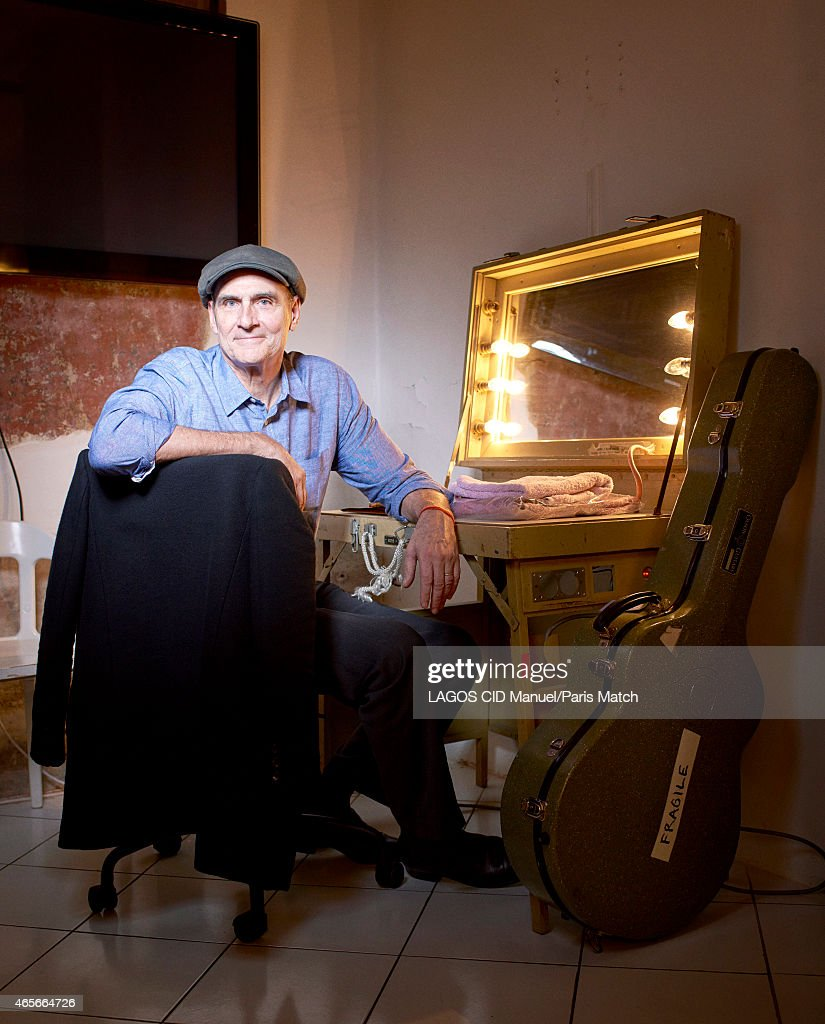 Singer-songwriter and guitarist James Taylor is photographed for Paris Match on January 14, 2015 in Paris, France.