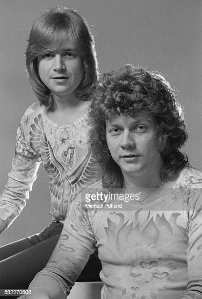 Singersongwriter and guitarist Justin Hayward and bassist John Lodge of English rock group The Moody Blues January 1975