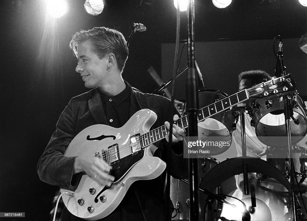 Singer Songwriter And Guitarist Nick Heyward Performing With Haircut