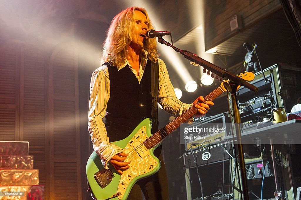Singer-songwriter and guitarist Tommy Shaw of Styx performs at the House of Blues on January 17, 2013 in New Orleans, Louisiana.