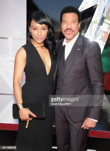 Singer/songwriter and Lifetime Achievement Honoree Lionel Richie and guest attend the BET AWARDS '14 at Nokia Theatre LA LIVE on June 29 2014 in Los...