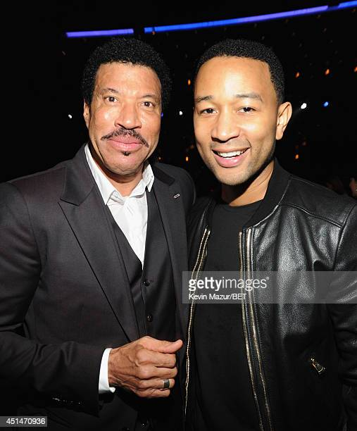 Singer/songwriter and Lifetime Achievement Honoree Lionel Richie and singer/songwriter John Legend attend the BET AWARDS '14 at Nokia Theatre LA LIVE...