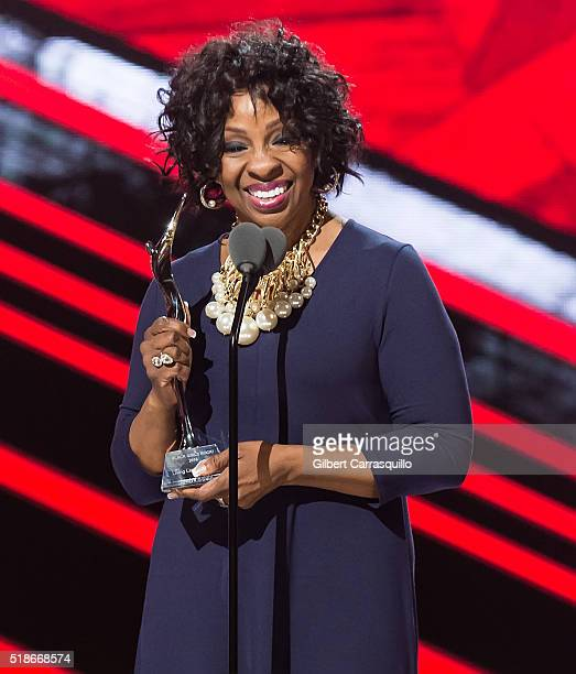Singersongwriter and Living Legend Award recipient Gladys Knight speaks onstage during BET Black Girls Rock 2016 at New Jersey Performing Arts Center...