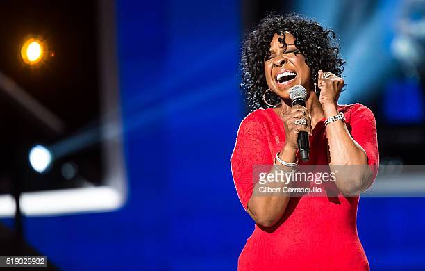 Singersongwriter and Living Legend Award recipient Gladys Knight performs onstage during BET Black Girls Rock 2016 at New Jersey Performing Arts...