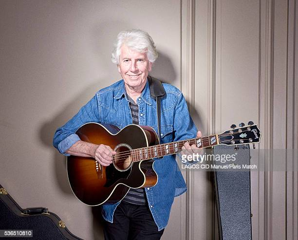 Singersongwriter and musician Graham Nash is photographed for Paris Match on March 4 2016 in Paris France