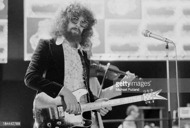Singer-songwriter and musician Jeff Lynne, English pop group Electric Light Orchestra , at a rehearsal for the group's appearance on the BBC TV music...