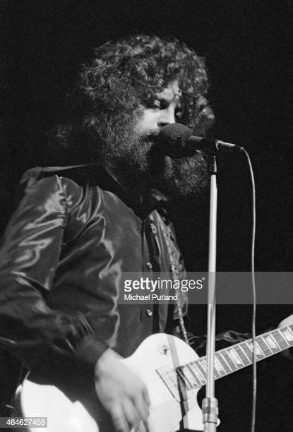 Singersongwriter and musician Jeff Lynne performing with English pop group Electric Light Orchestra at the Theatre Royal Drury Lane London 16th...