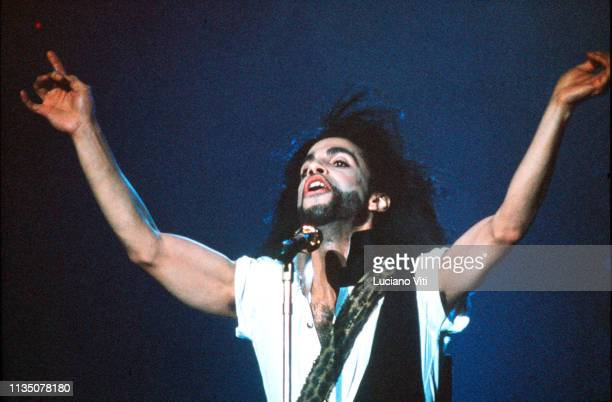 Singersongwriter and musician Prince Rome Italy 17th July 1990