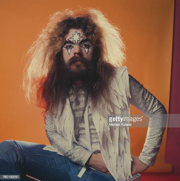Singersongwriter and musician Roy Wood of English pop group Wizzard posed wearing glam rock style face make up London 6th December 1974