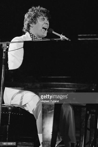 Singersongwriter and pianist Gary Brooker performing with British rock group Procol Harum at the Royal Festival Hall London 12th November 1973