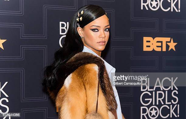 Singer/songwriter and Rock Star Award recipient Rihanna attends BET Black Girls Rock 2016 at New Jersey Performing Arts Center on April 1 2016 in...