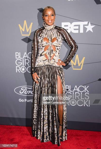 Singersongwriter and Star Power Award recipient Mary J Blige attends 2018 Black Girls Rock at New Jersey Performing Arts Center on August 26 2018 in...