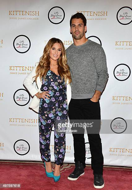 Singer/songwriter and TV personality Jessie James Decker and husband New York Jets' wide receiver Eric Decker attend the launch of her clothing brand...