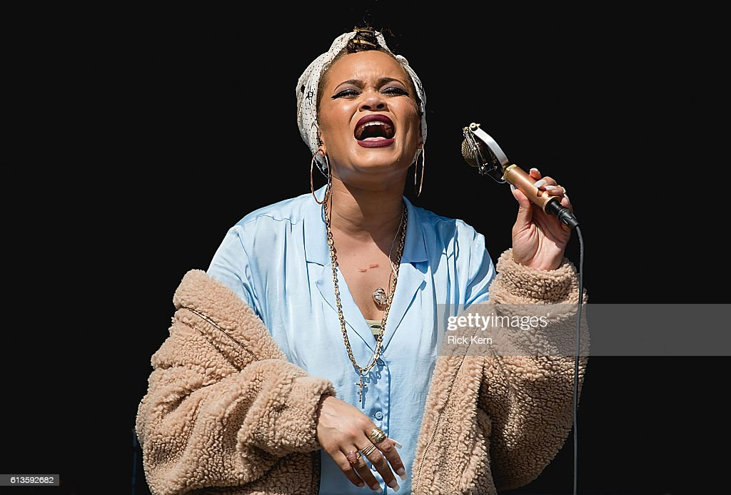 Singer-songwriter Andra Day performs onstage during weekend two, day two of Austin City Limits Music Festival at Zilker Park on October 8, 2016 in Austin, Texas.