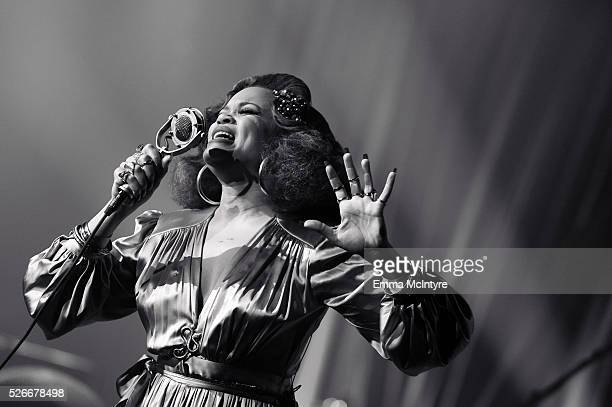 Singer/songwriter Andra Day performs onstage for ATT Audience Network at Red Studios on April 30 2016 in Los Angeles California