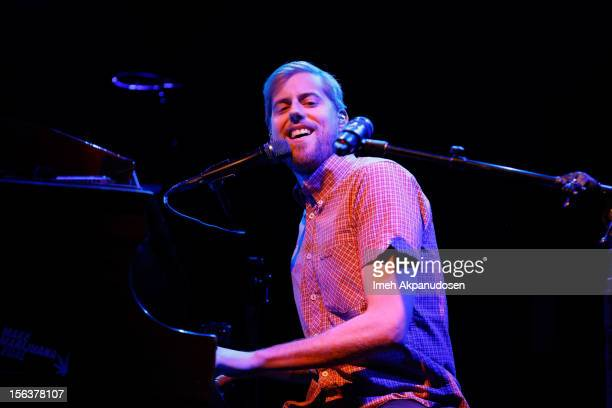 Singer/songwriter Andrew McMahon of Jack's Mannequin performs onstage during the final show for the Dear Jack Foundation's 3rd Annual Benefit Show at...