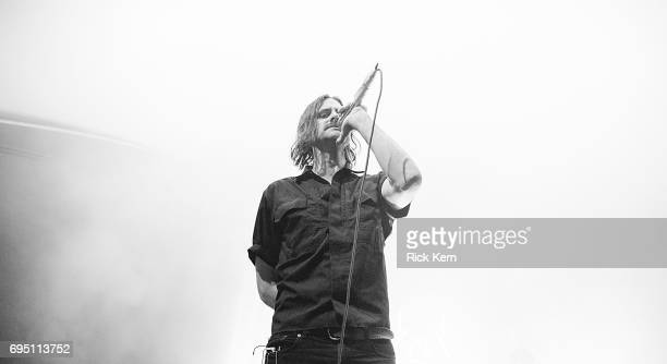 Singersongwriter Andrew Wyatt of Miike Snow performs in concert at Stubb's BarBQ on June 11 2017 in Austin Texas