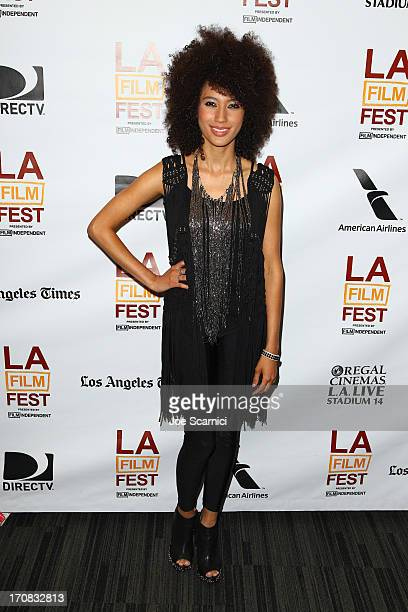 Singer/songwriter Andy Allo attends a Night at The GRAMMY Museum with the Hypnotic Brass Ensemble during the 2013 Los Angeles Film Festival at The...
